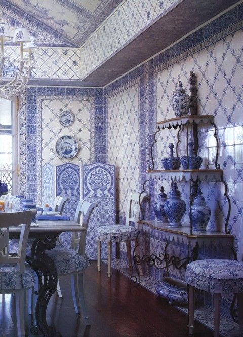 This is amazing … Mark Hampton - Quogue, New York dining room of Gayfryd and Saul Steinberg.