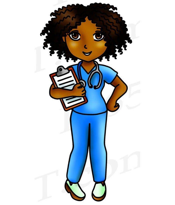 Buy 3 Get 1 Free Black Nurse Clipart Black Girl Nurse Clip Etsy In 2021 Nurse Clip Art Nurse Art Nurse Cartoon