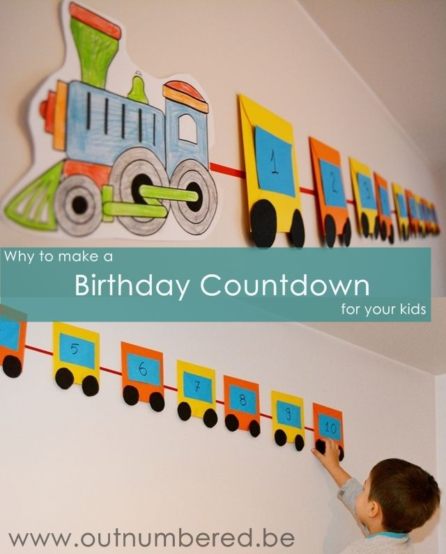 Why to Make a Birthday Countdown for your Kids