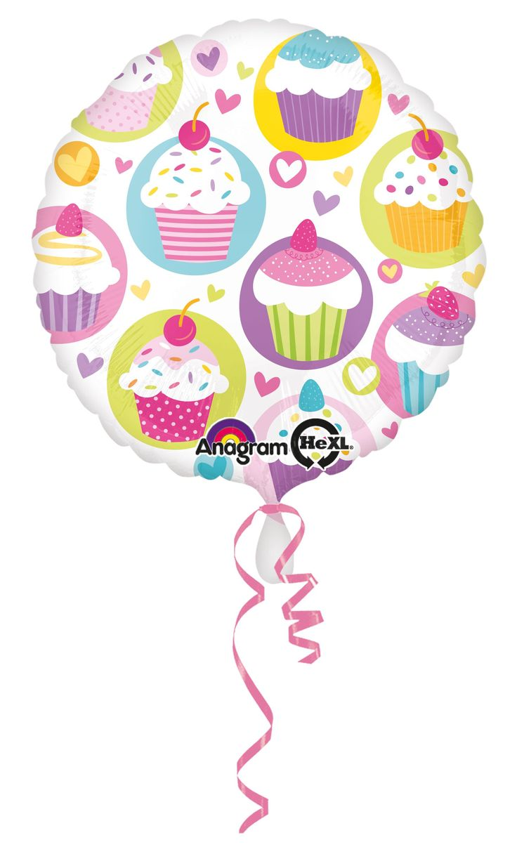 """Balon urodzinowy 17"""" (43 cm) z nadrukiem ciasteczka. Doskonały do dekoracji na przyjęcie urodzinowe dla dziewczynki lub roczek dziecka."""