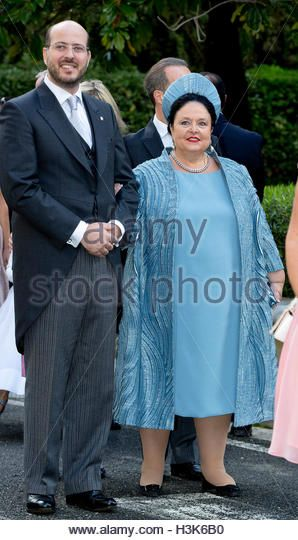 Tirana, Albania. 08th Oct, 2016. Grand Duchess Maria of Russia and Prince Ali of Egypt Royal wedding of HRH Crown - Stock Image