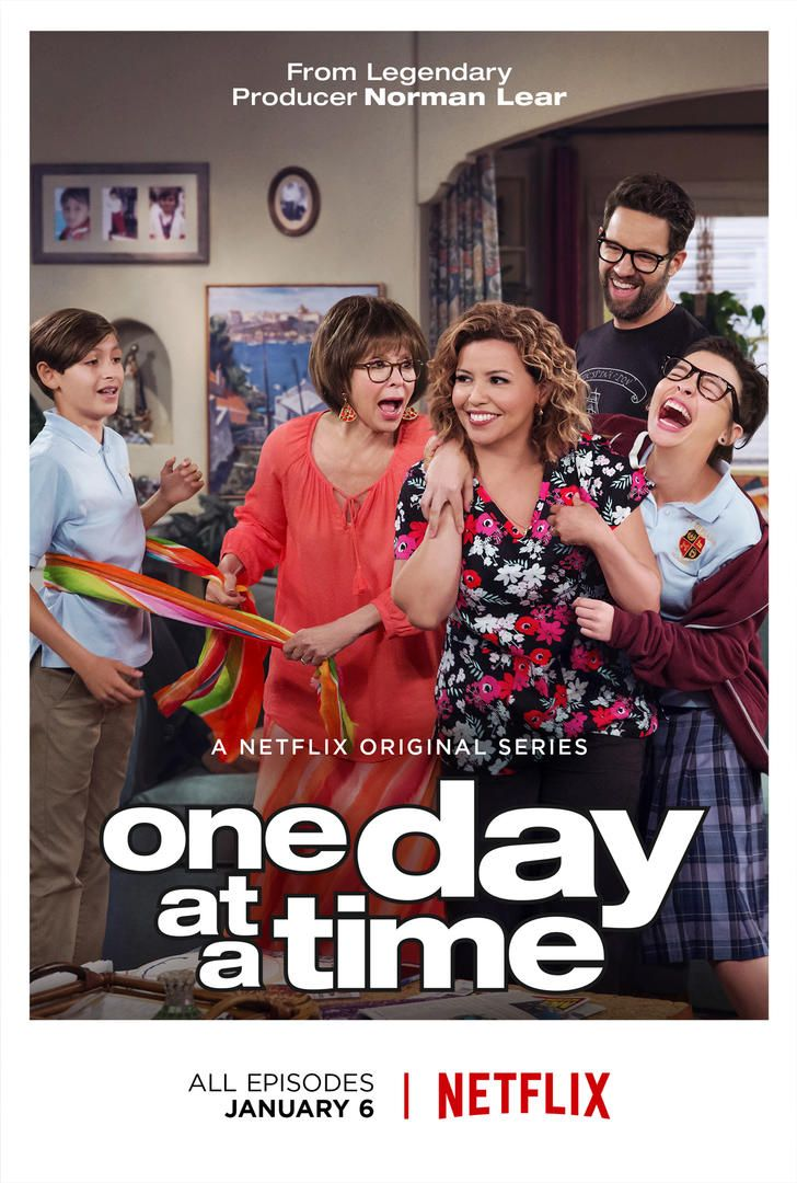 """One Day At A TIme 2017 TVPG Comedy Netflix TV SHOW- In a reimaging of the TV classic, a newly single Latina mother raises her teen daughter and tween son with the """"help"""" of her old school mom."""
