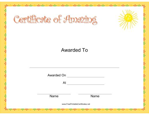 11 best Certificates images on Pinterest Printable certificates - free perfect attendance certificate template