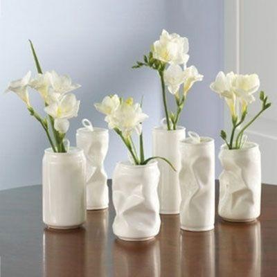 Canettes et fleurs Décoration