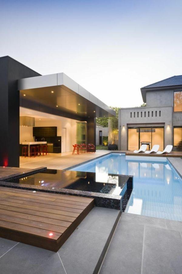piscine semi enterée luxe