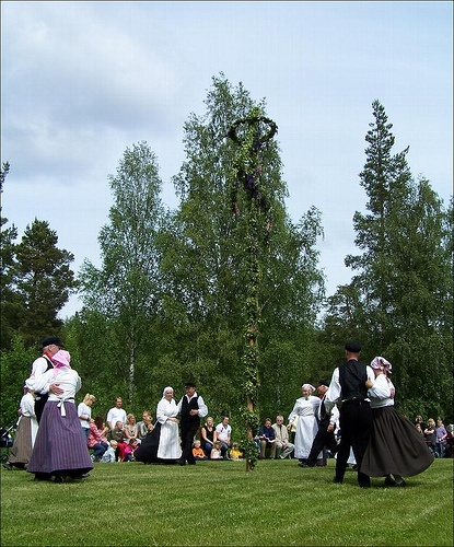 This is as traditional as it gets in Sweden. Celebrating Midsommar is older than Christmas here. Matfors