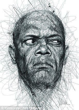 Samuel L. Jackson scribble portrait