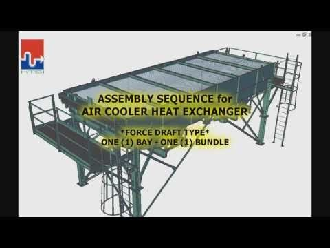 AIR COOLER HEAT EXCHANGER - ANIMATED ASSEMBLY - YouTube
