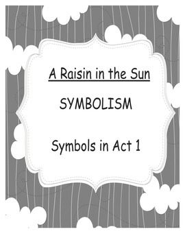 raisin in the sun symbolism literary analysis - a raisin in the sun in the play, a raisin in the sun, by lorraine hansberry, the younger's are a poverty stricken, african american, extended family of five living in a small apartment in chicago during the 1950's the mother, lena receives a life insurance check for her deceased husband for ten thousand dollars and wants.