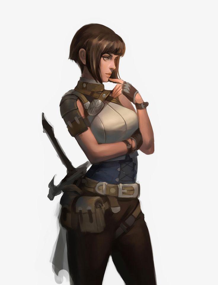 mercenary, Catbuck . J on ArtStation at https://www.artstation.com/artwork/mercenary-850cbcbb-8ff9-4479-91e3-2de6b6e59677