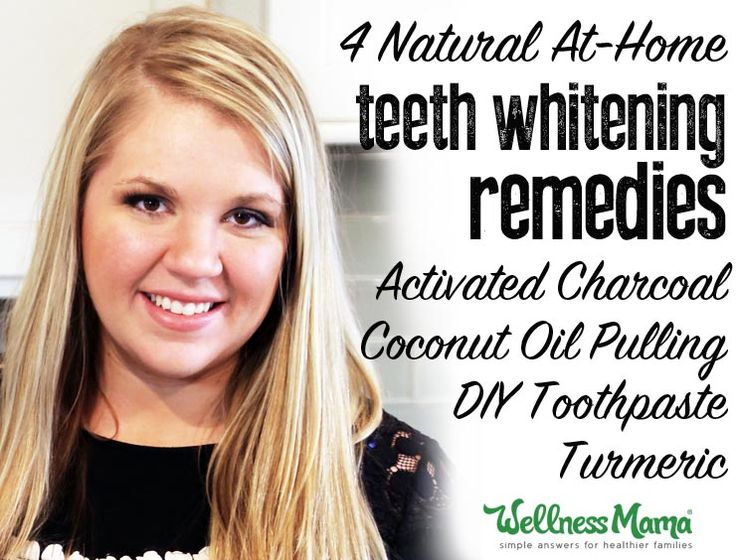 These natural teeth whitening remedies are simple and inexpensive (and work!): activated charcoal, coconut oil pulling, DIY toothpaste and turmeirc.
