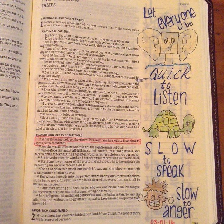 """Today's Lent devotional word is """"listen"""" but I couldn't pass up the opportunity for the whole verse (James 1:19). I think it speaks for itself.  #bibleart #biblejournaling #biblejournalingcommunity #lent #lentdevotion #lentillustrated #illustratedfaith #documentedfaith #scripturescribbles #votd #verseoftheday #40wordsin40days by dyounger051802"""