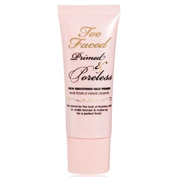 Too Faced Primed & Poreless Skin-Smoothing Face Primer. Works great, makeup lasts all day. I only wear powder and this gets the job done. :)