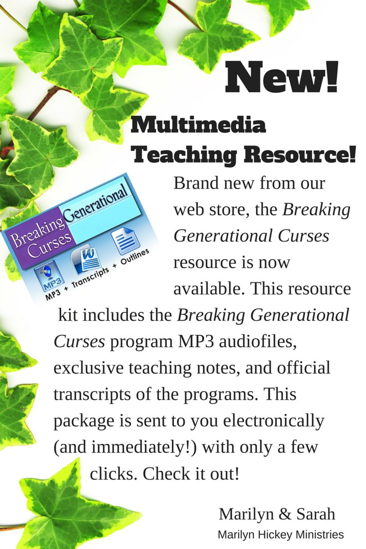 Now available breaking generational curses resource kit