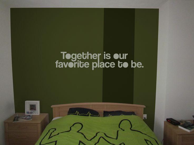 Een mooie romantische tekst boven je bed lalien heeft for Je eigen slaapkamer ontwerpen