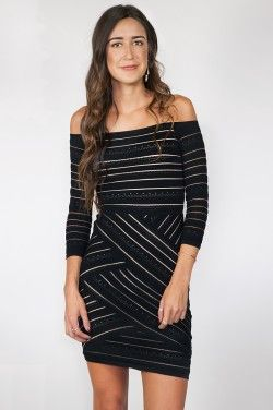 D'Arcy Off-Shoulder Sweater Dress in Black by Bailey 44 | www.shopblueeyedgirl.com