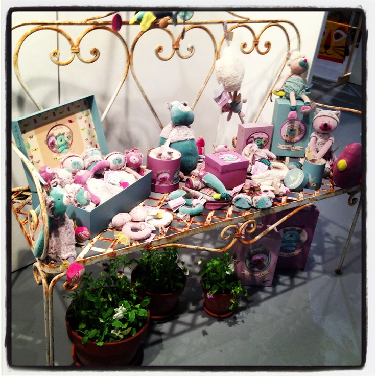 This Moulin Roty display is gorgeous - the owner sourced it from home - she's always on the lookout for great props