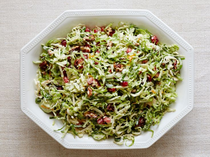 Brussels Sprout Slaw recipe from Damaris Phillips via Food Network