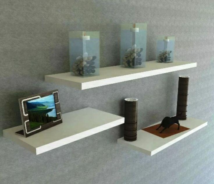 repisa flotante 100% madera de pino