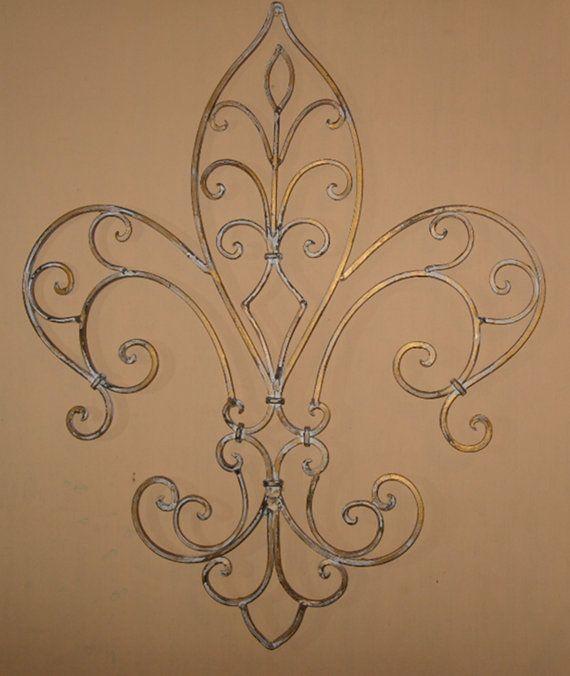 Metal Wall Decor Wrought Iron Fleur De Lis By