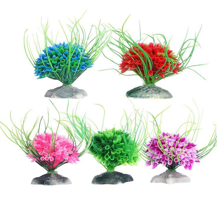 2pcs Aquarium Artificial Plants Plastic Fish Tank Ornaments Aquarium Grass Decoration #Affiliate