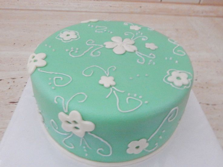 hand-decorated cake