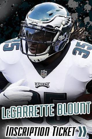 LeGarrette Blount Philadelphia Eagles Inscription Tickets