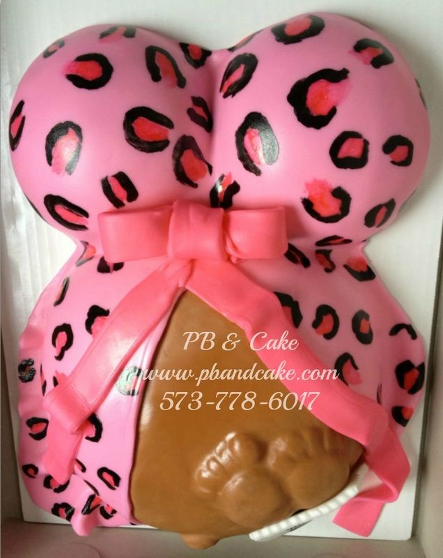 Leopard baby belly cake ((I haven't seen it before w/ the belly showing and the feet--It's cute! Oh and btw, love the *LEOPARD*;)...))