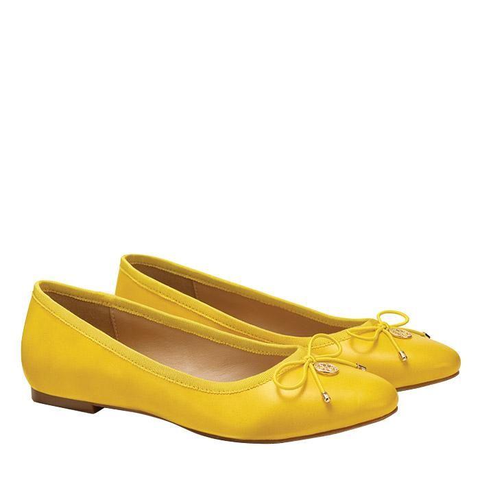 Cushion Walk© Yellow Ballet Flat with Charm Detail