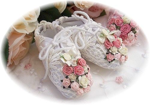 Victorian Decor Baby Shoes
