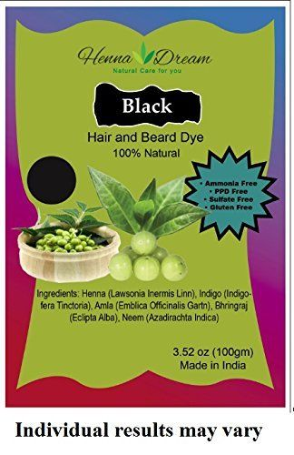 Henna Dream Natural 100% Chemical Free Hair Dye, Black, 100 Gram >>> Continue to the product at the image link.