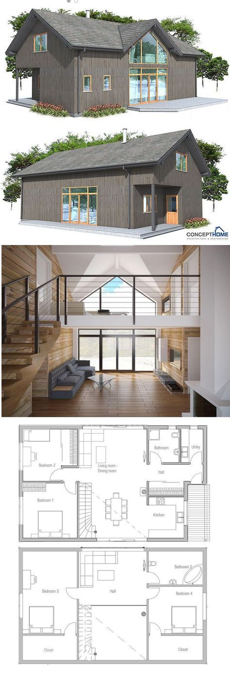 Small House Plan Second floor Divide the