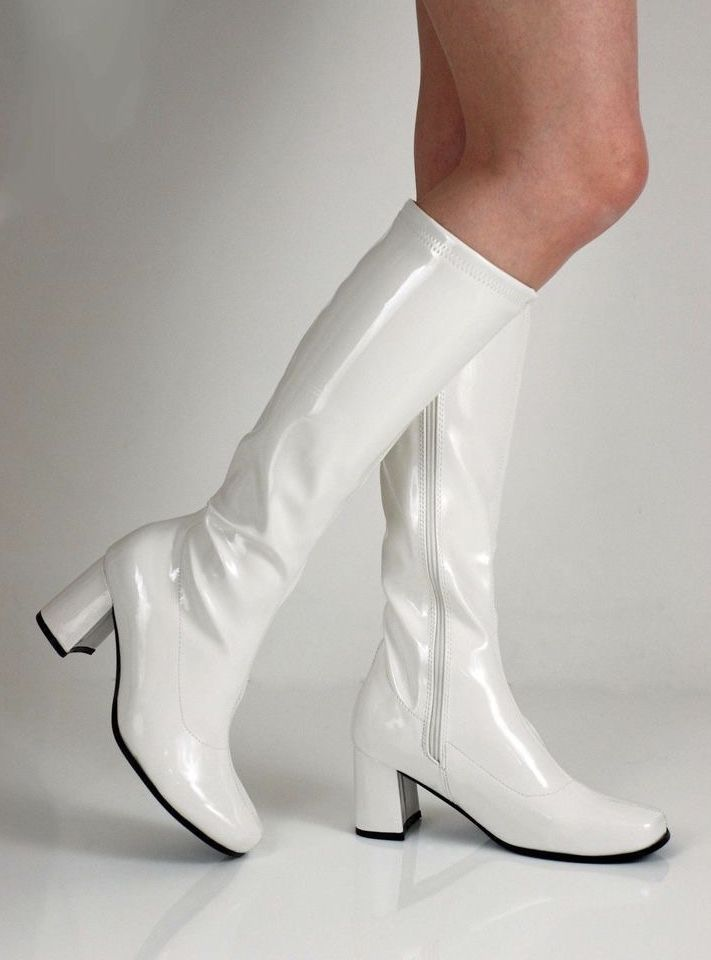 white boots seventies | Gogo boots