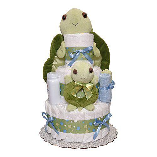 Mr Turtle Diaper Cake 3 Tiers diapercakewalk https://www.amazon.com/dp/B01BOVMLBO/ref=cm_sw_r_pi_dp_x_jyE3ybECWW9NY
