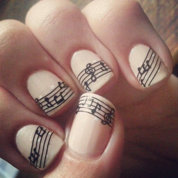 25+ Best Ideas About Music Note Nails On Pinterest