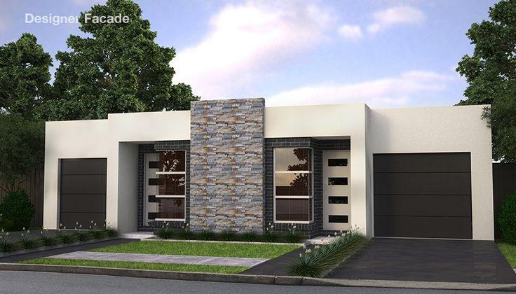 Проект двухэтажного жилого дома, дуплекс  с летней террасой и гаражом для одного автомобиля, Mk2-100400