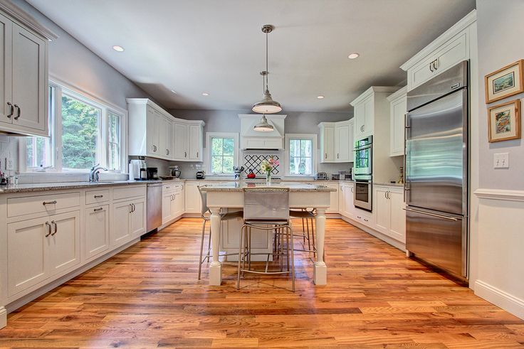 Beautifully designed kitchen in a modern farmhouse. 220 Burr Street, Fairfield, Connecticut. See more photos @ http://walshandpartners.com/220burr  Exclusively listed for sale by Denise Walsh & Partners of William Raveis Real Estate  #fairfieldrealestate #kitchenrenovation #modernfarmhouse #stainlessteel #whitekitchens #dwpproperties #fairfieldCT #greenfieldhill #onthehill