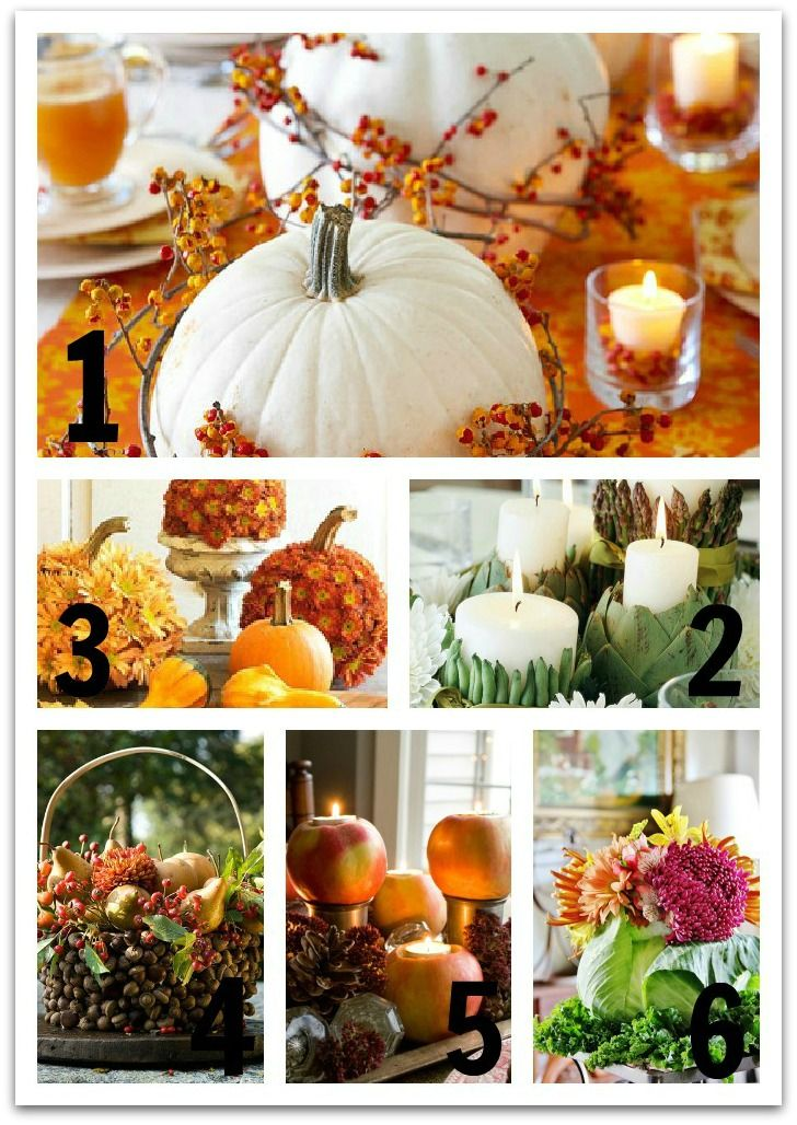 Six easy thanksgiving centerpiece ideas lighting Simple thanksgiving table decorations