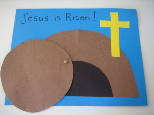 Empty Tomb paper craft: Image borrowed from HappyHomeFairy.com
