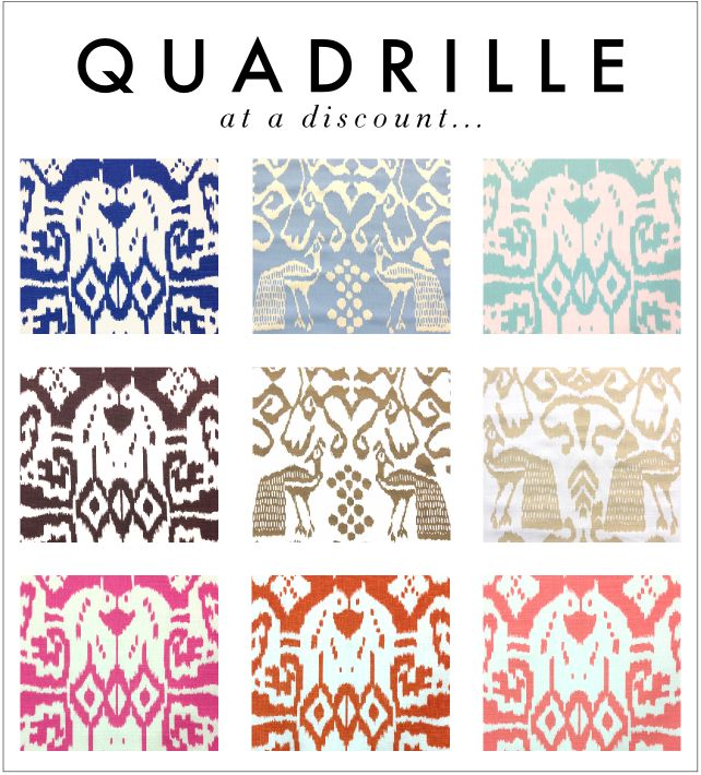 discounted quadrille fabric
