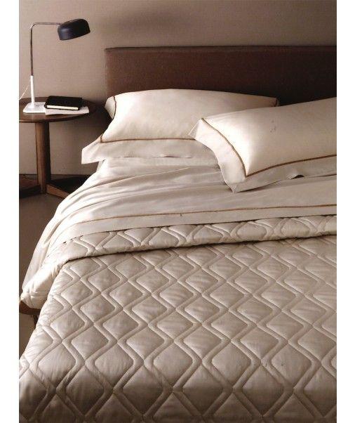 Set lenzuola Borbonese per letto matrimoniale Essenza avorio 270x290 cm