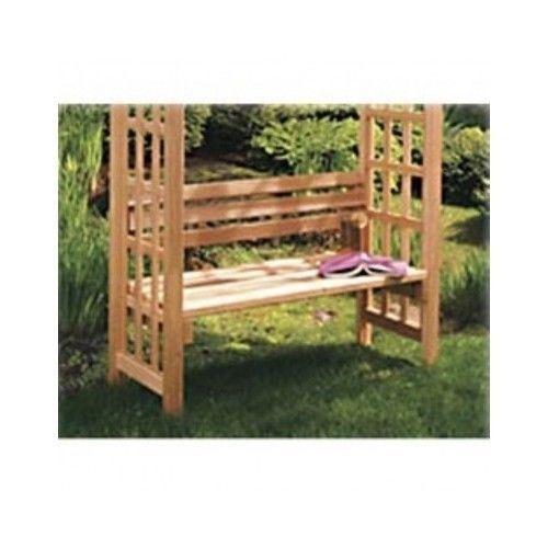Pergola Bench Arbor Outdoor Garden Trellis Furniture 42