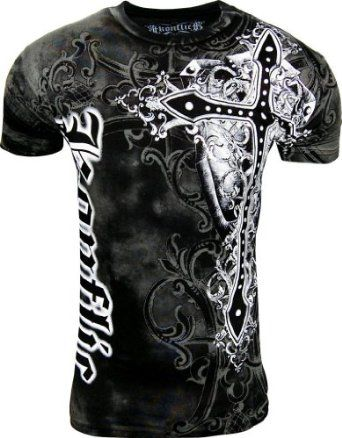 Konflict NWT Men's Giant Cross Graphic Designer MMA Muscle T-shirt!,$16.95 - $22.99