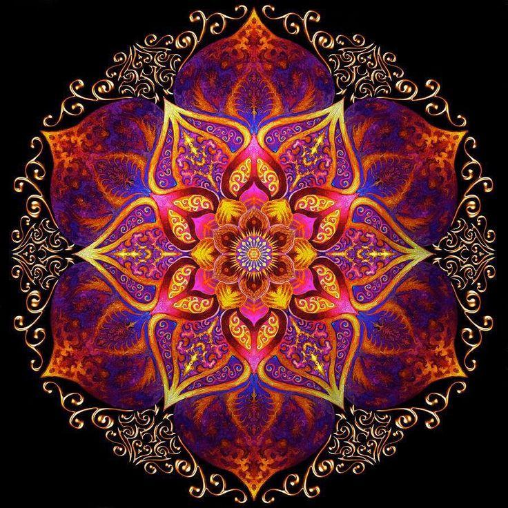 Ruby Lotus Mandala :: Sacred geometry