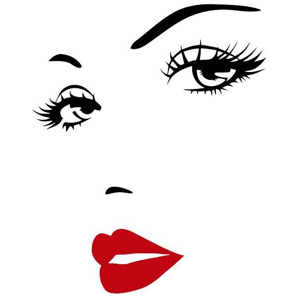 Vinilos Decorativos: Rostro de bella mujer