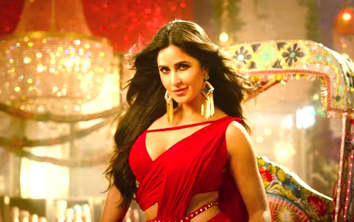 Katrina Kaif Hot In Red Dress Husn Parcham Katrina Kaif Katrina Bollywood Actress