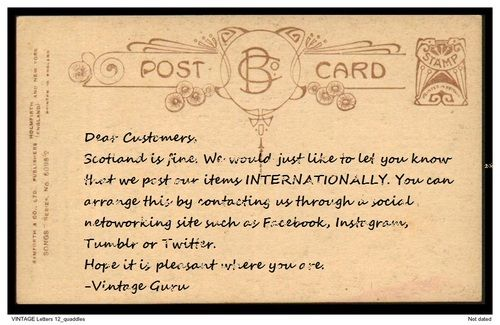 You can inquire at our Facebook - twitter: @Vintage Guru - our instagram: @vintageguruscotland - our tumblr: vintageguruscotland.tumblr.com or email: vintageguruscotland@yahoo.com. #postage #international #internationalsale #internationalpost #vintage #vintageguru #glasgow #scotland #uk #byresroad #fashion #style #trend #mens #womens #unisex