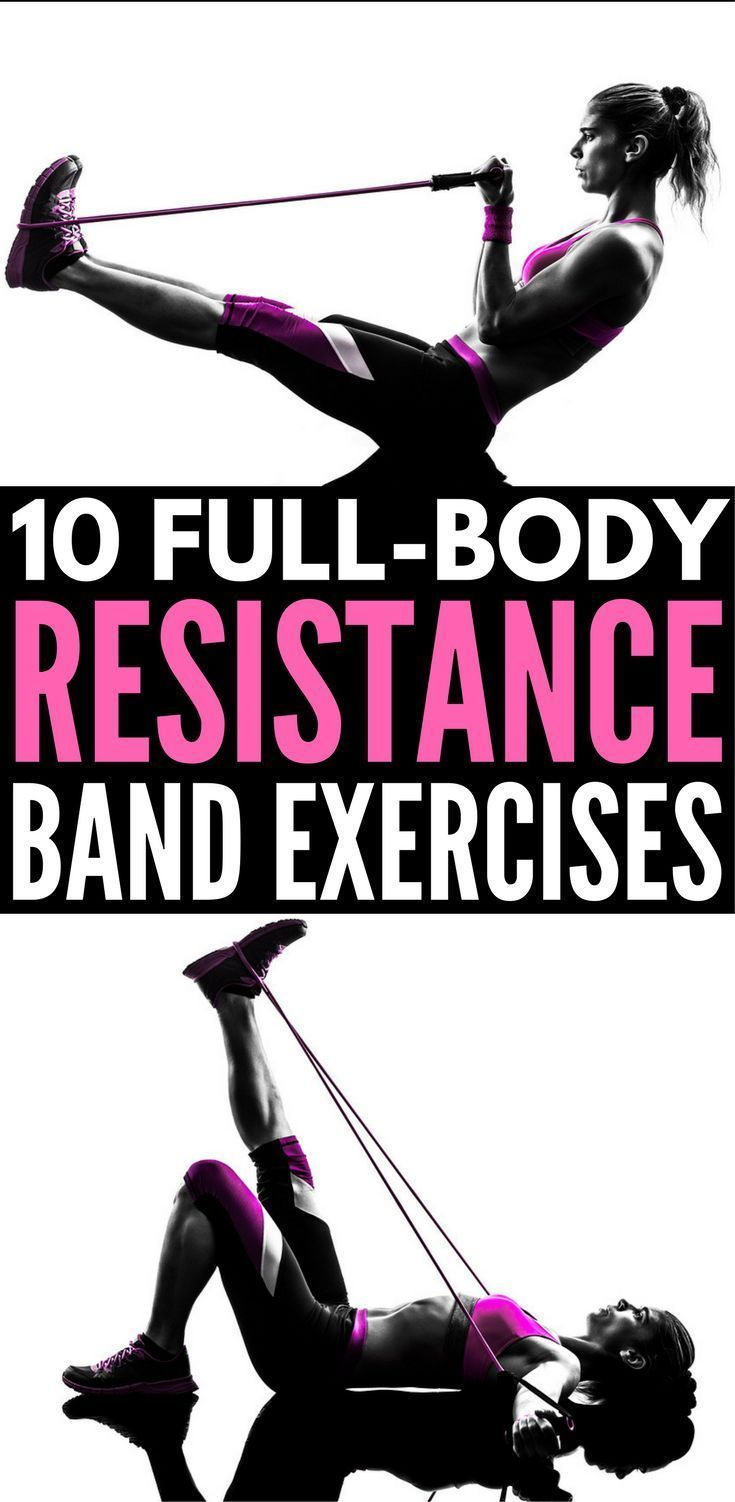 Full Body Workout with Resistance Bands: 10 Exercises to Tighten & Tone | Resistance band exercises offer a great all-in-one workout for glutes, for arms, for legs, for abs, for back, and for thighs that can be done anytime, anywhere. Perfect for weight loss and building muscle, we're sharing 10 workouts for beginners (and beyond!) to help you get back in shape from the comfort of your own home.