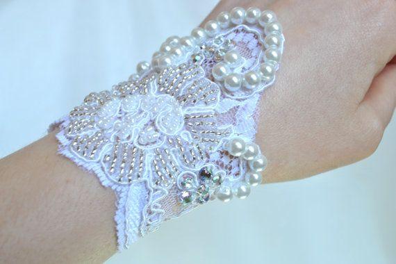 Vintage+Inspired+Bridal+Pearl+Cuff+Bracelet++by+jogeorgedesigns,+£24.99