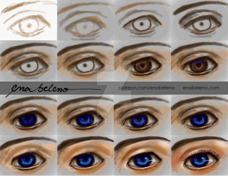 Tutorial: Eyes Digital Painting by Ena Beleno by enabeleno.deviantart.com on @DeviantArt